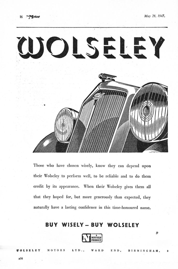 46 best Wolseley images on Pinterest   Br car, British car and ...