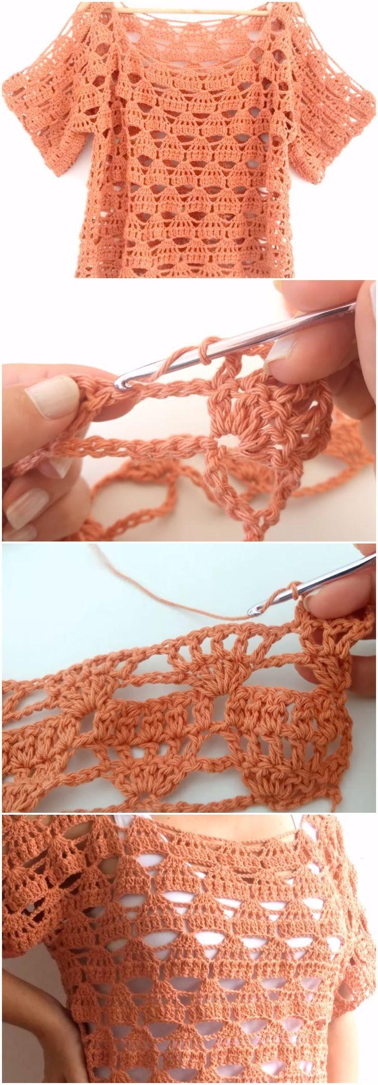 Crochet Easy Soft Blouse