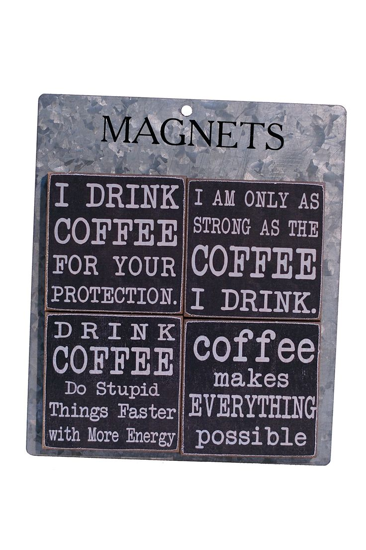 Coffee Magnets - Set of 4