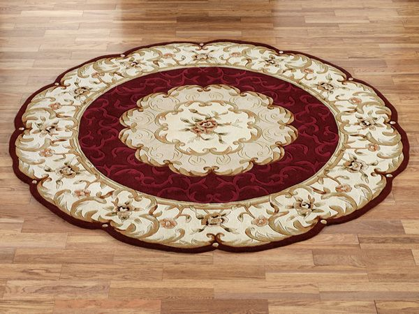 The Pure Wool Evaline Round Area Rugs Beautifully Display A