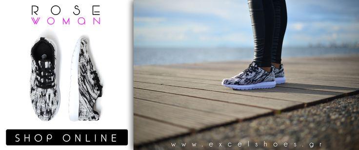 Γυναικεία αθλητικά παπούτσια με λευκή σόλα σε 5 χρώματα!