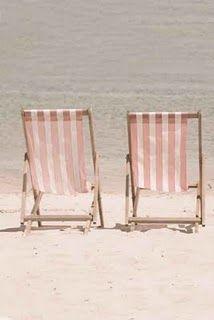 Beach chairs: At The Beaches, Sands, Pink Beaches, Beaches Chairs, Summer Picnics, Pale Pink, Places, Decks Chairs, The Sea