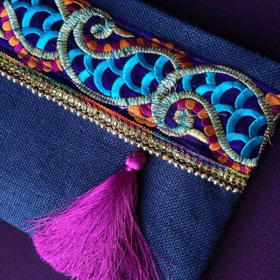 Bolso de noche embrague étnicos mujeres bolso por BOHOCHICBYDAMLA