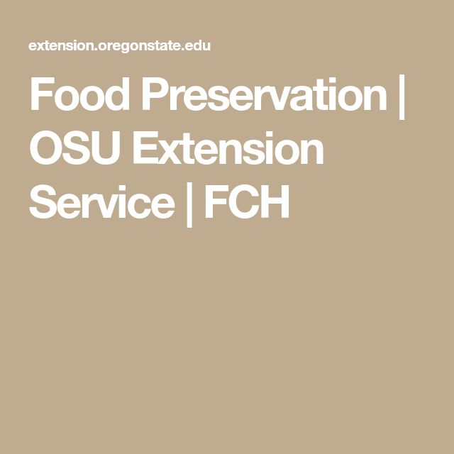 Food Preservation | OSU Extension Service | FCH