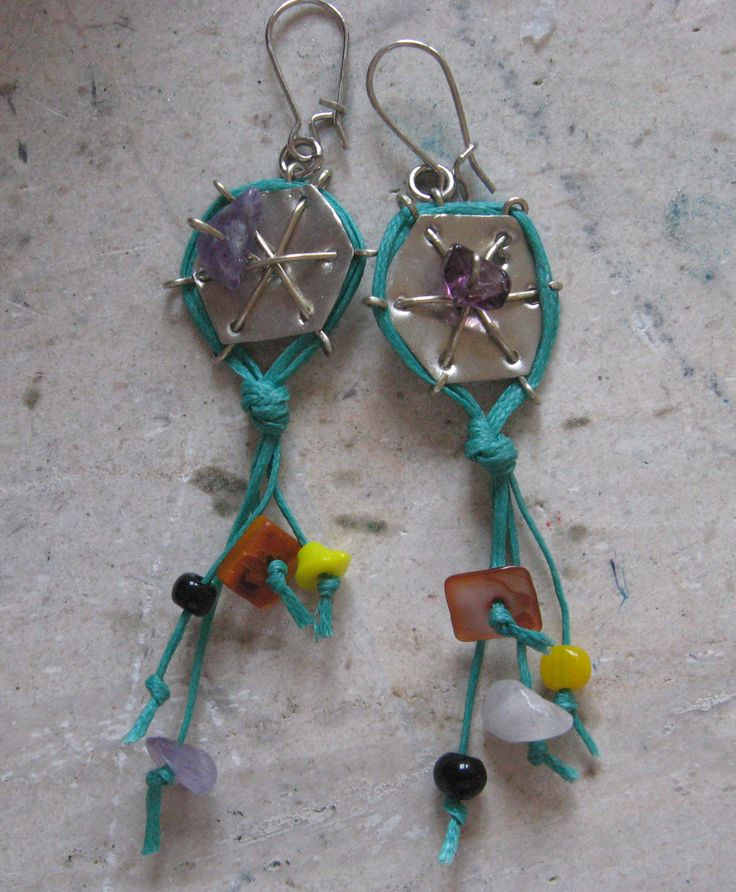 handmade kite earrings