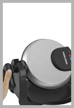 Black and Decker Rotary Belgian Waffle Maker, Black/Silver - Price History