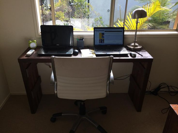 4 pieces of thick pine from Bunnings, plus a coat of lacquer and I made a slimline laptop desk for my spare room.