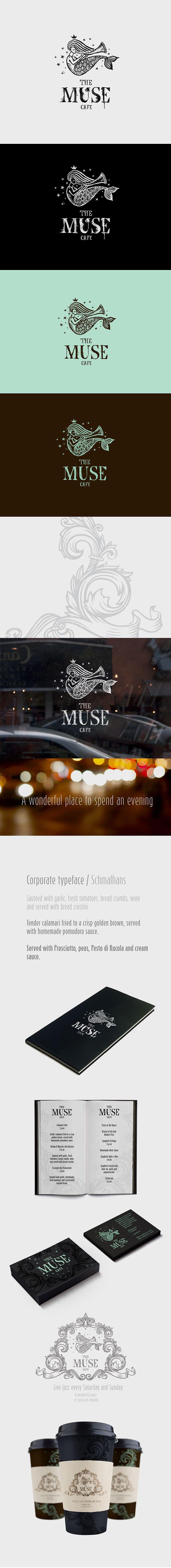 ru_identity: The Muse cafe / Фирменный стиль, логотип. lovely logo #identity #packaging #branding PD