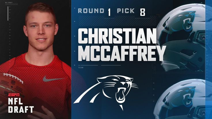 With the 8th pick in the 2017 NFL Draft, the Carolina Panthers select Christian McCaffrey.