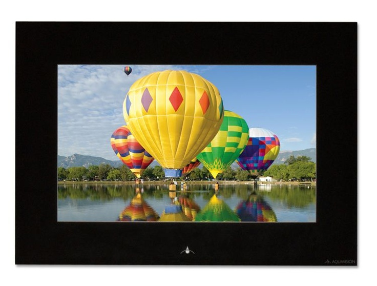 "Aquavision 19"" Frameless Waterproof LCD TV, in black. Bathroom TVs from UK Bathrooms"