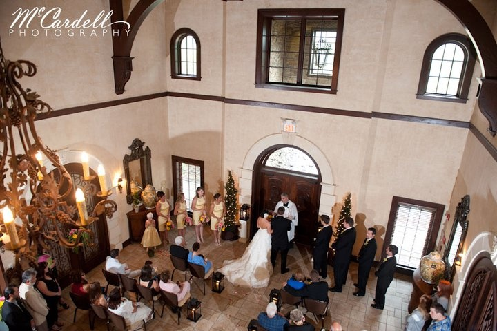 McCardell captured a perfect view of this beautiful ceremony at Childress Vineyards.  Who would have known that this was intended to be an outdoor wedding?  With a little improv, this turned out to be a lovely indoor wedding in the foyer!