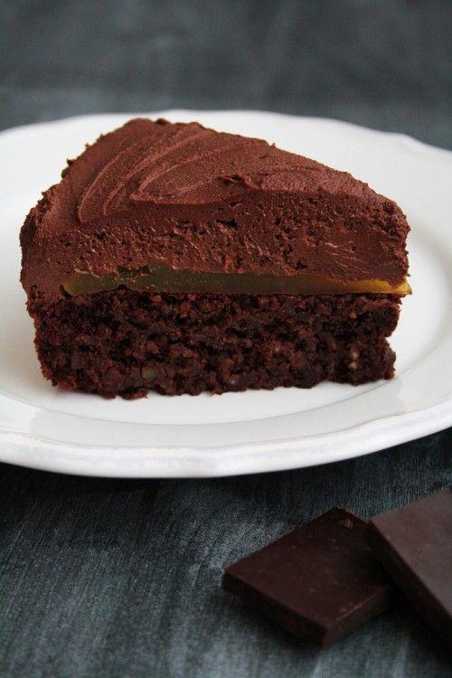 Narancszselés csokoládémousse-torta