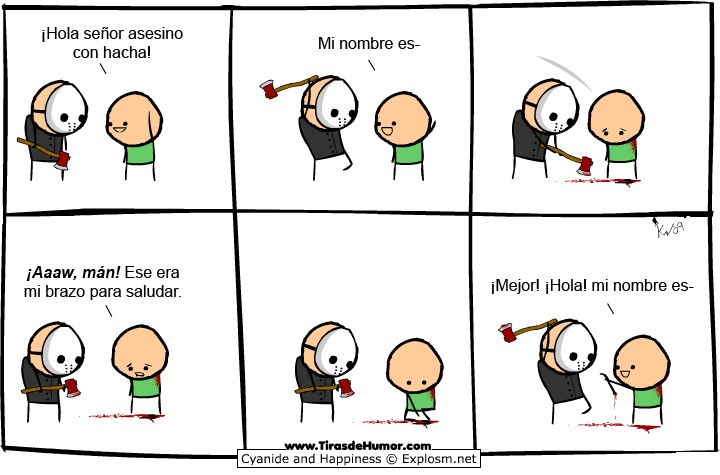 Cyanide and Happiness: Saludando a jason viernes 13
