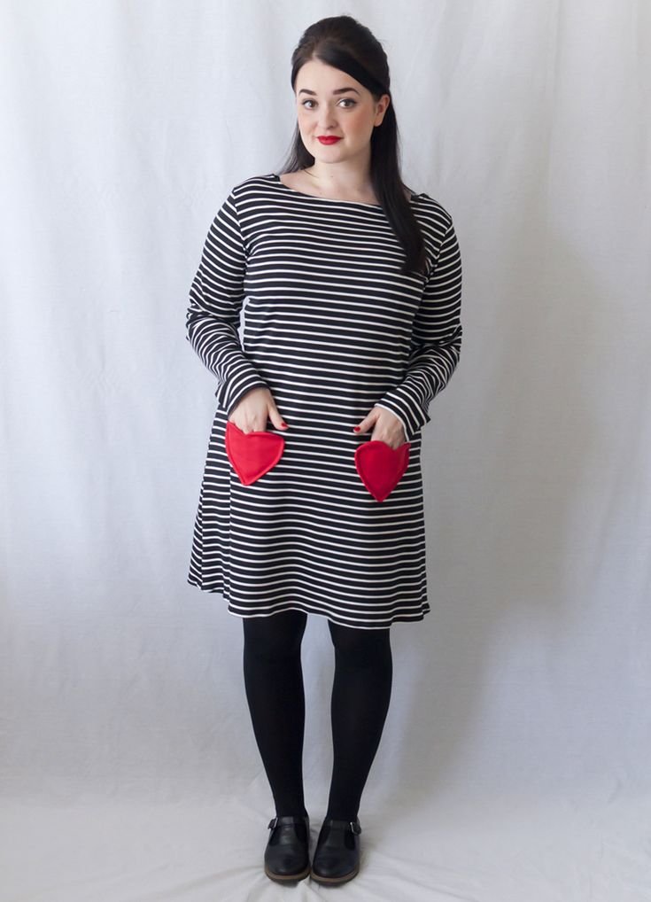 How to Sew Heart Pockets - Sweeten up Any Make! Ft. Tilly and the Buttons Coco Dress