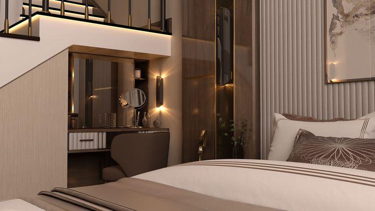 VWArtclub - спальня с двуспальной кроватью
