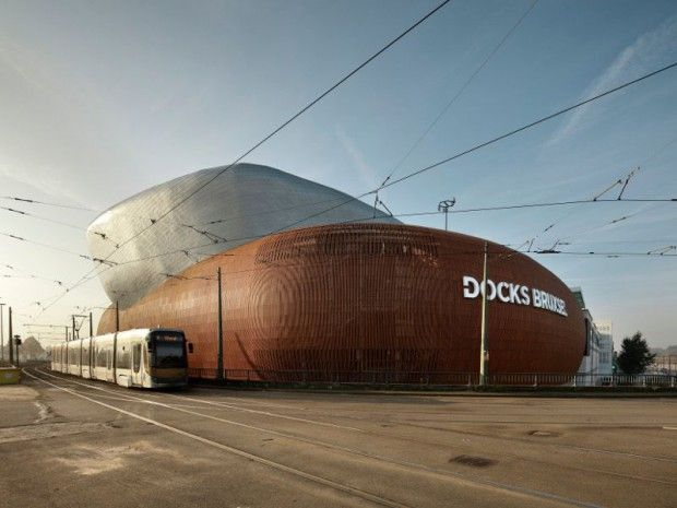"""""""Docks Bruxsel"""" Shopphing Centre in Bruxelles (Belgique) by Art&Build      #AZENGAR #Architecture #ShoppingCentre #Façade #Belgium #Zinc #VMZINC #Project"""