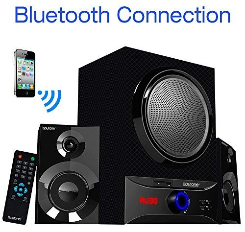 Boytone BT209FD Wireless Bluetooth Main unit Powerful Sound  Bass 30 watt excellent clear sound  FM radio Remote control Aux Port USBSD for Smartphones Tablets Computers Home Theater *** Find out more about the great product at the image link.