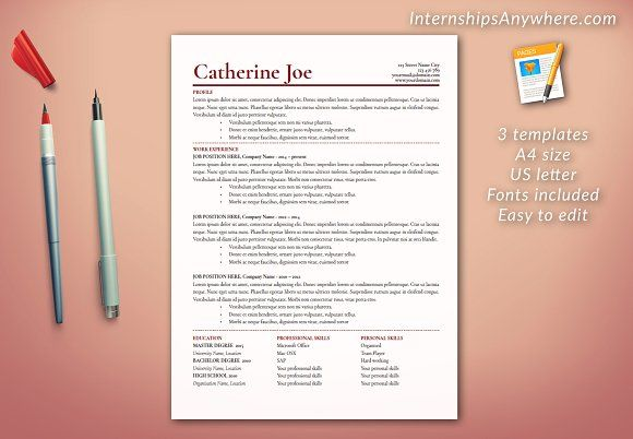 Resume Template Professional CV @creativework247