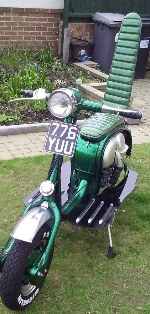 lambretta series 2 metal flake skelly 1961 green 175cc