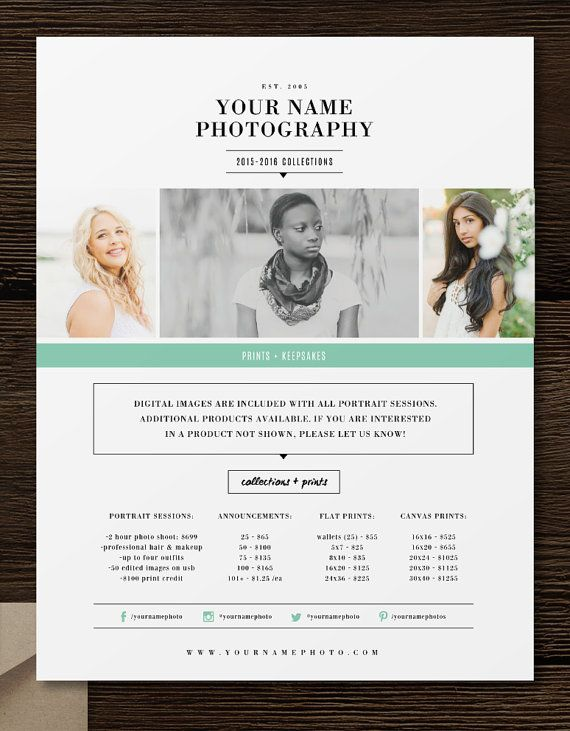 Graduation announcement template. Professional Photoshop templates for photographers. Senior rep cards, business cards, pricing guides, price flyers, sticker templates, thank you cards.