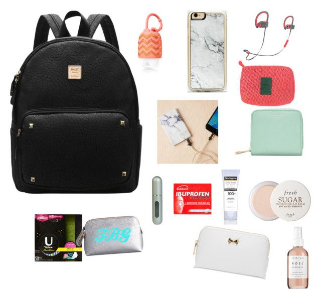 """""""Backpack for Disney"""" by tailorgrace1 on Polyvore featuring Zero Gravity, Urban Outfitters, Herbivore, Aspinal of London, Fresh, Neutrogena, Ted Baker and Travalo"""