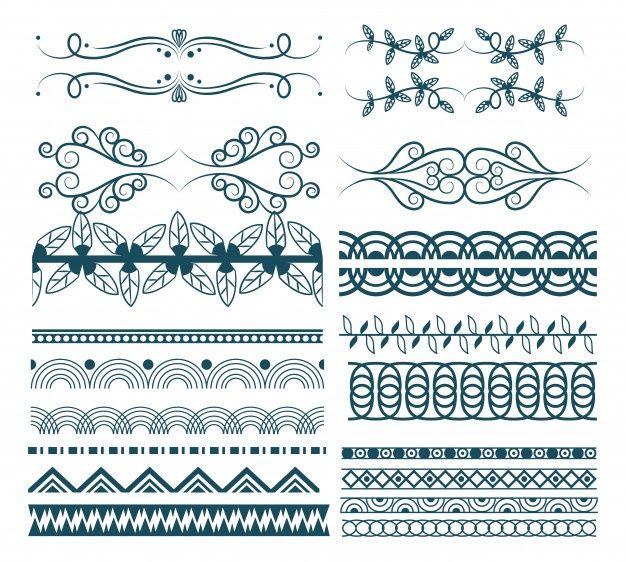 Coleccion De Elementos Ornamentales Dibujados A Mano Descargar Vectores Gratis Libre De Vectores Vectores Gratis Cintas