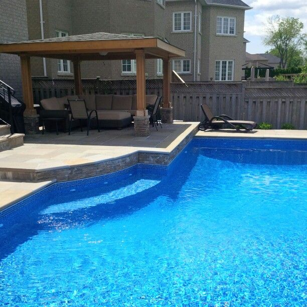 Custom Vinyl Pool Sunset Beach Pools Toronto Outdoor Leisure Pinterest Vinyls Custom