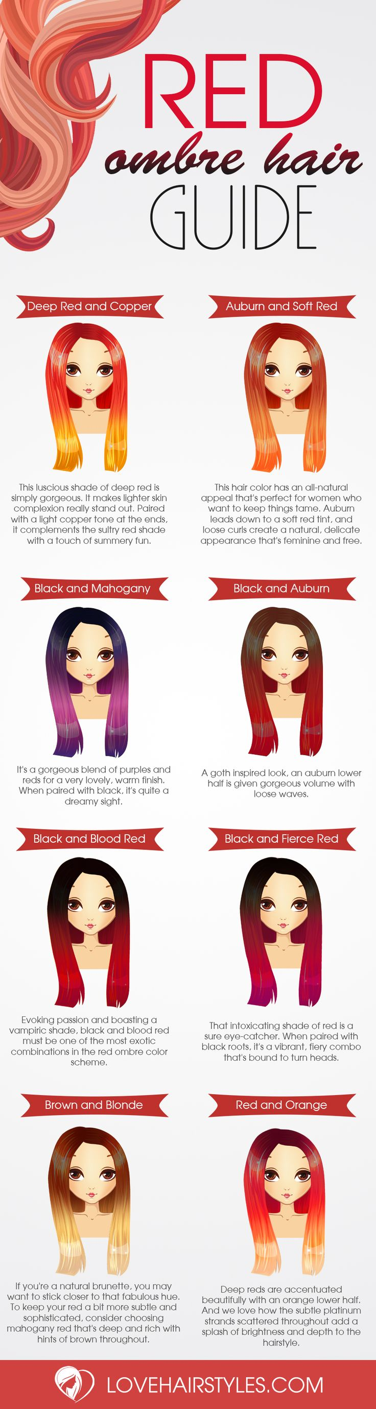 If you want a fun new hairstyle, why not try red ombre hair? There are a ton of options for you to choose. Check out our favorites!