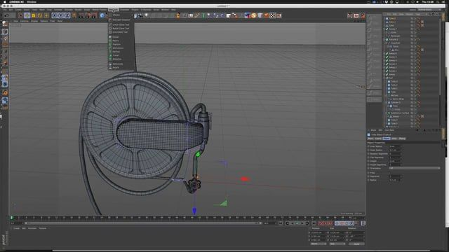 If you're interested in a full process video of modeling something from scratch, this is for you. Get some coffee, turn on some tunes and watch Remco create a fire hose 3D model in C4D.    The free model download can be found here:  http://www.thepixellab.net/free-c4d-3d-scene-locker-room