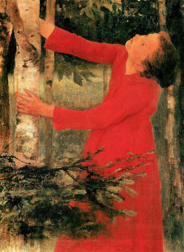 Karoly Ferenczy (1862-1917, Hungarian Artist) Bird Song