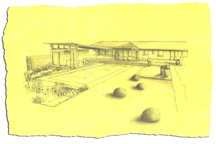 Ian Barker - A perspective sketch we presented to clients last week.