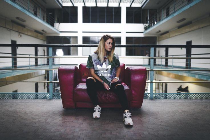 Be edgy be different.   adidas T-Shirt: http://www.ftshp.com/eu/adidas-boyfriend  #adidas #footshop