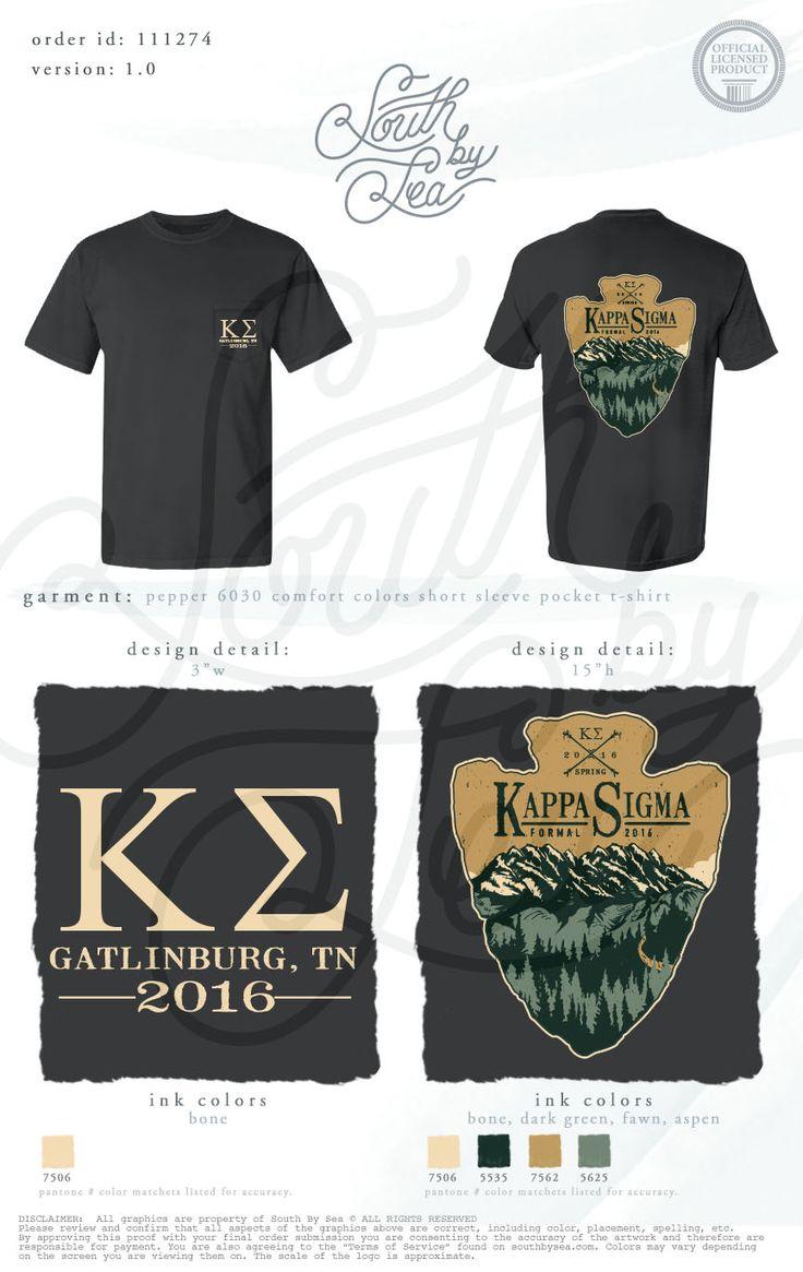 Shirt design brands - Kappa Sigma Arrowhead T Shirt Design Fraternity Retreat Brotherhood South By