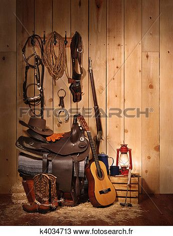 cow-boy, nature morte Voir Image Grand Format