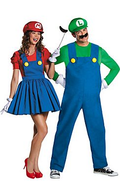 adult luigi miss mario couples costumes - Puck Bunny Halloween Costume
