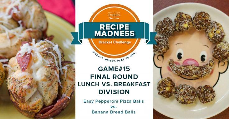 Recipe Madness Bracket Challenge