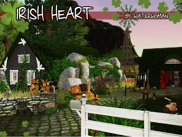 12 best sims 3 garden ideas images on pinterest backyard ideas irish heart house by waterwoman sims 3 downloads cc caboodle sisterspd