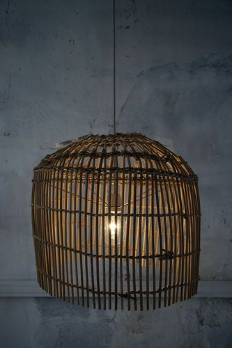 Lamp inspired from the structure of a Mongolian yurt.