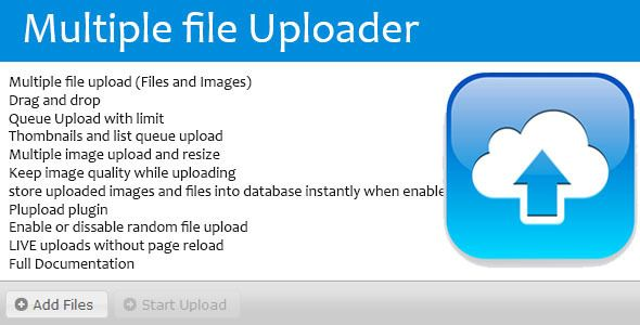Multitple Files, Images Uploader and Resizer