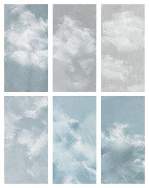 credo IV, 2009, 51x41 cm, olio su 6 tavole di carte, incorniciata dietro un vetro bianco