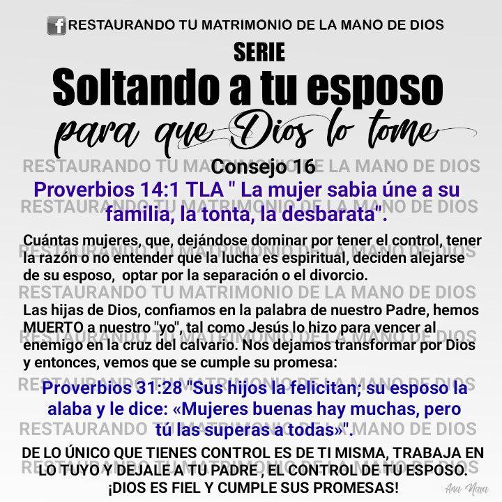 Consejos De Dios Para Soltar A Ti Esposo Oracion Para Mi Esposo Orar Por Mi Esposo Consejos Para Estudiar La Biblia