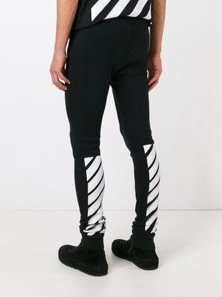 be99f65d39b Off-White Stripe Print Track Pants - Farfetch   off white pants in ...