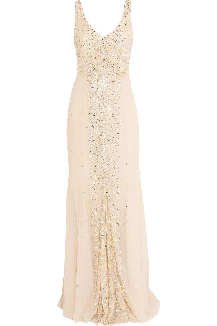 Blush sequin gown / Rachel Gilbert