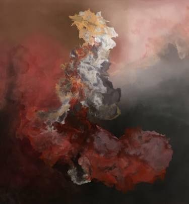 "Saatchi Art Artist Aria Dellcorta; Painting, ""Self Reflection"" #art #energy #painting #artforsale #soulart"