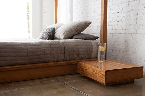 Contemporary Canopy Bed in Solid Wood by MASHstudios | Captivatist