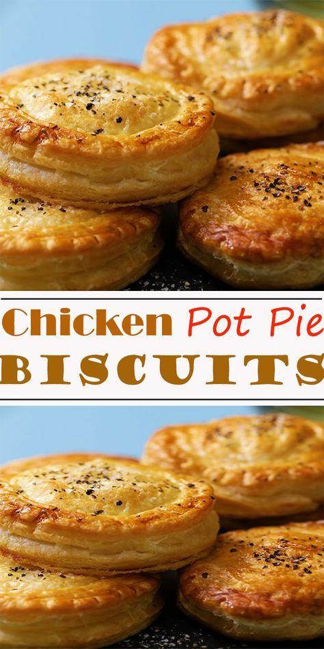 Chicken Pot Pie Biscuits #Chicken #PotPie #Biscuits #ChickenPotPieBiscuits