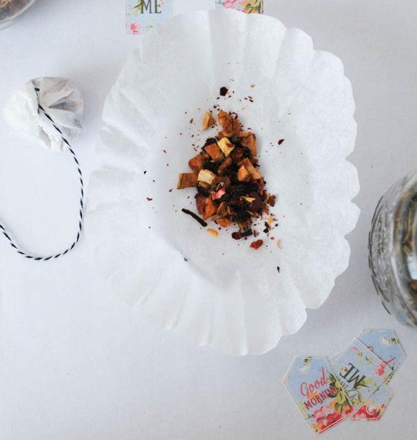 DIY Loose Leaf Tea Bags with Printable Tea Labels