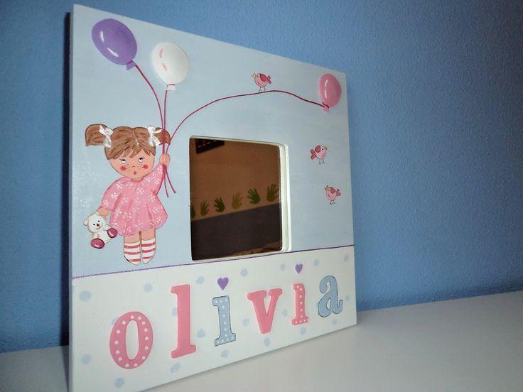 Cuadro Olivia pintado a mano