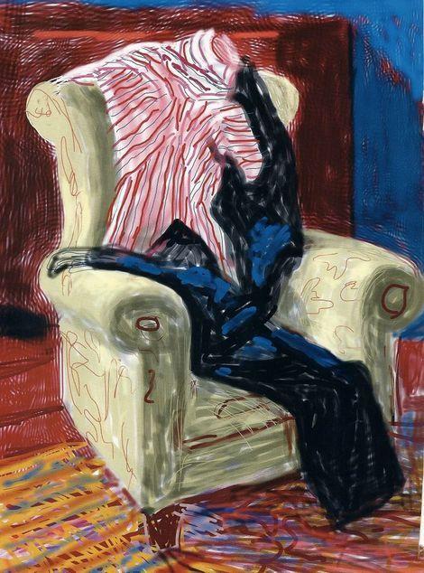 David Hockney, Unknown, Ipad chair on ArtStack #david-hockney #art