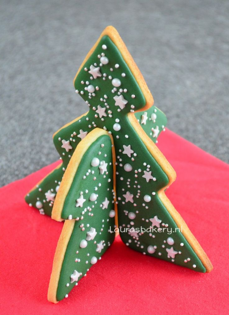 3D koekjes kerstboom - 3d christmas tree cookie -  Laura's Bakery